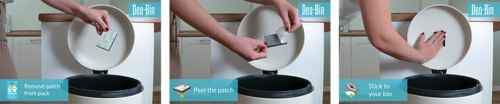 Deo-Bin food into kitchen food waste bin