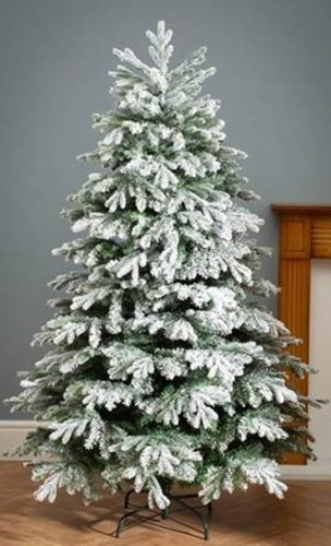 Robert Dyas Mix Tip Green Flocked Tree