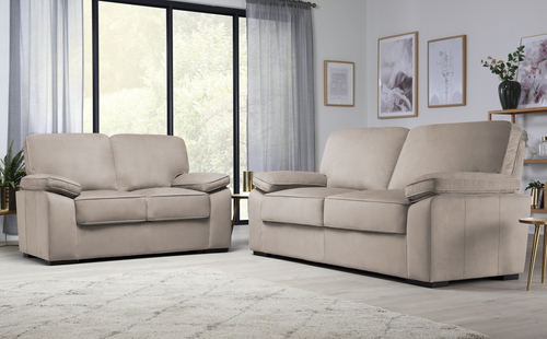 Elliot Mink Velvet Sofa Set - Save &pound200