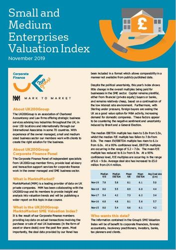SME Valuation Index 2019