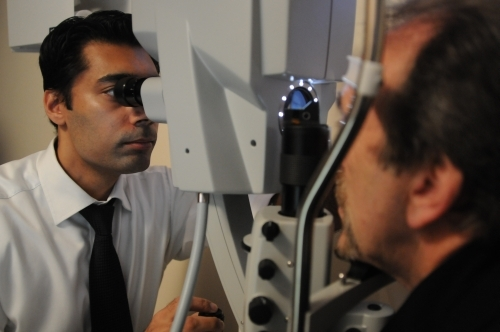 Bobby Qureshi with patient