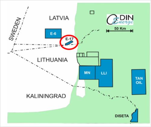 Odin Energi E-17 Prospect Location
