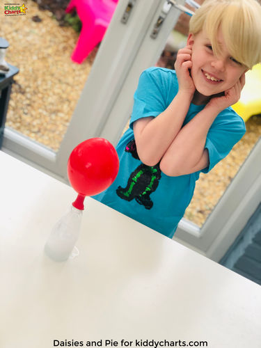 Fun science experiment with a balloon