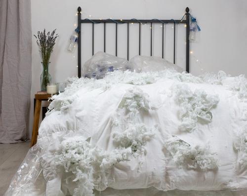 Plastic in bedding