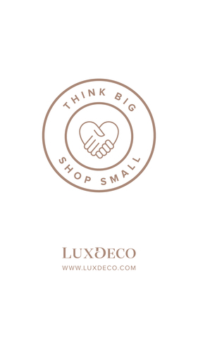 LuxDeco Think Big Shop Small Logo