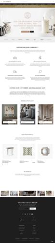 LuxDeco Think Big Shop Small Website