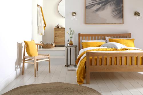 Bergamo Solid Oak Double Bed - &pound349.99