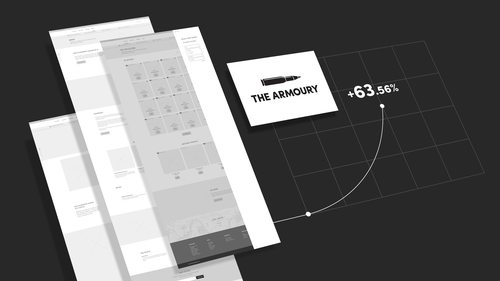 The Armoury wireframe redesign for Casio
