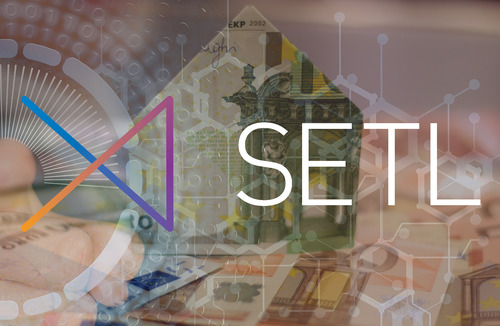 SETL logo banner over money and nodes