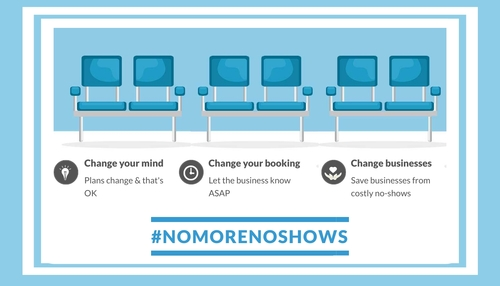 #NoMoreNoShows main banner to share
