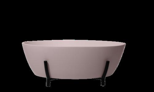 Pink Essex Bath with matt black stand