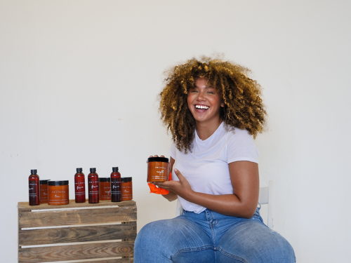 Curly hair jar of Eight conditioner