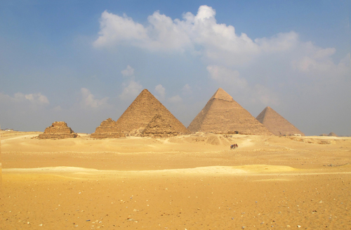 The Ancient Pyramids of Giza Egypt