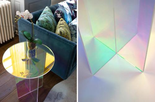 Diamond Light Table casts rainbow hues