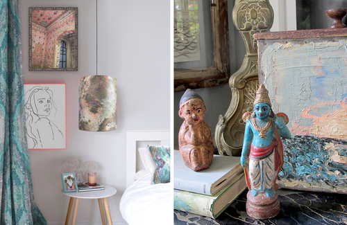 Eclectic blends of art objet + texture