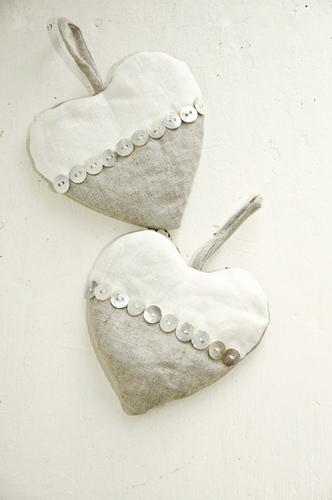 Linen Lavender Scented Hearts