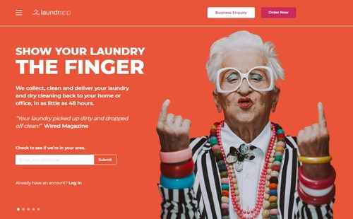 Laundrapp - Website Homepage