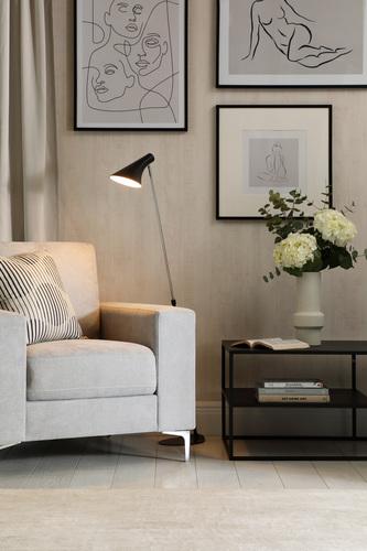 Baltimore Dove Grey Fabric Armchair