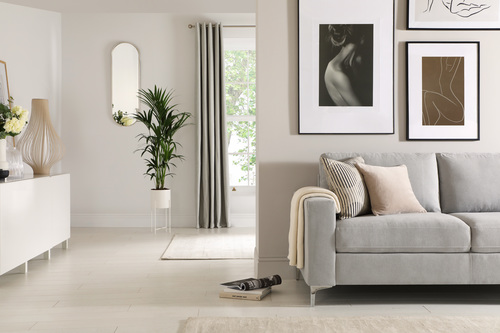 Baltimore Dove Grey Fabric Sofa