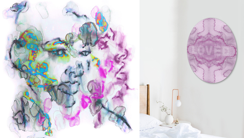 Crazy Diamond and Loved wall art prints
