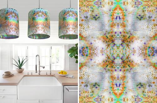 Rainbow Naga Orange kitchen lampshades