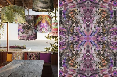Zero Point Tiger Noir wallpaper + shade