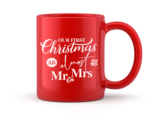 Almost Mr and Mrs Red Christmas Mug