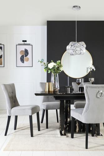 Florence Black Marble Dining Set