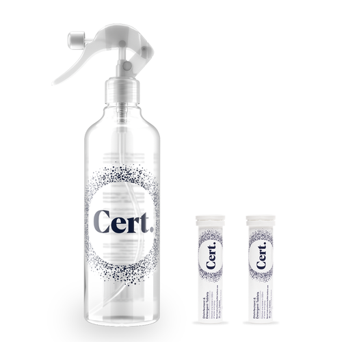 Cert.Disinfectant Spray Bottle &amp Tablets