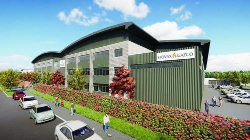 CGI image of Stovax &amp Gazco premises
