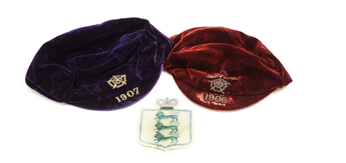 Colin Veitch England caps and badge