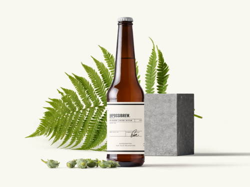 A scened photo of IMPOSSIBREW LAGER.