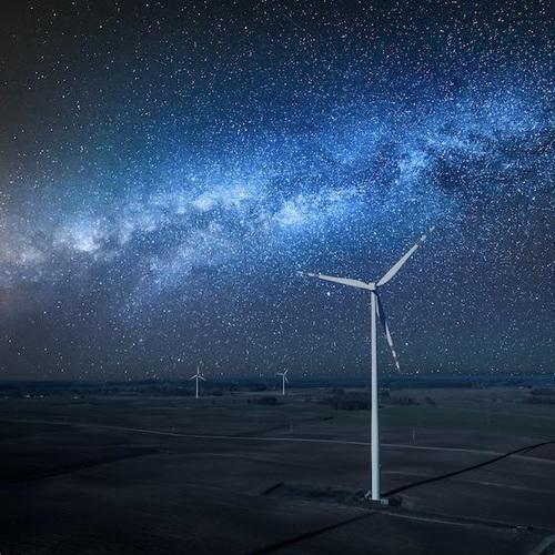 Wind turbine curtailment at night