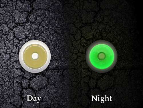 Traxeyes visible in day & glow at night.