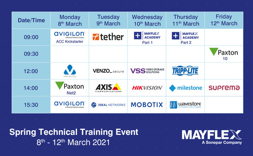 Mayflex Spring Technical Training Event