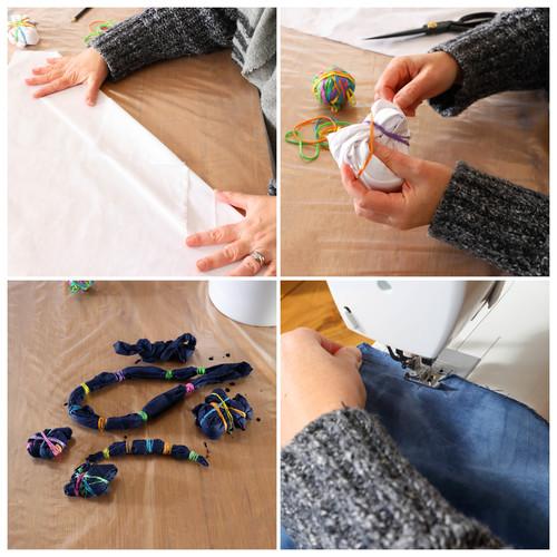 DIY Tie Dye Art Steps