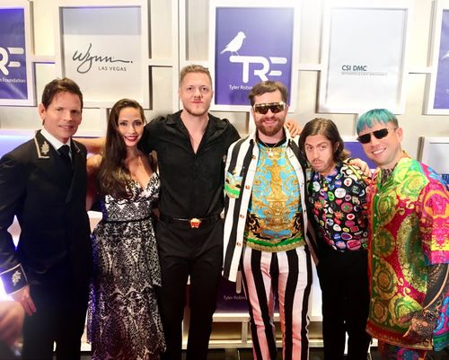 Tim and Amy Cantor with Imagine Dragons
