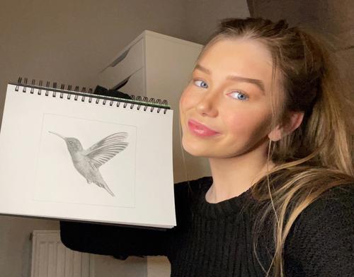 Alisha with her design