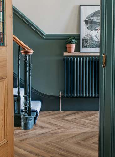 Herringbone Wood Floor Tiles Hallway