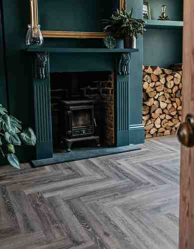 Herringbone Wood Floor Tiles Living Room