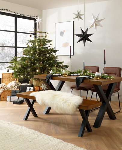 Franklin Oak Dining Table Main