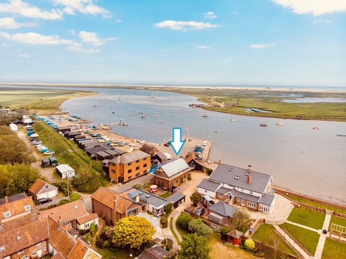 Quay Lodge Orford from the air