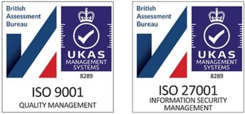 ISO 9001 & 27001 logos