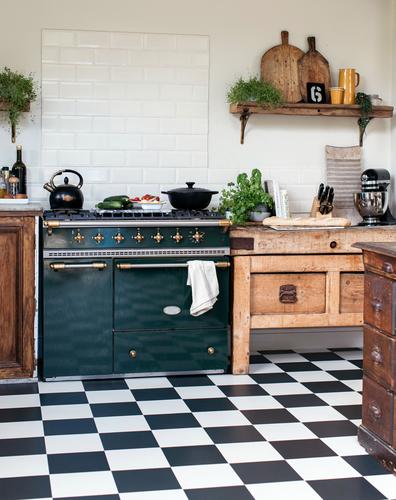 Chequerboard Kitchen Floor