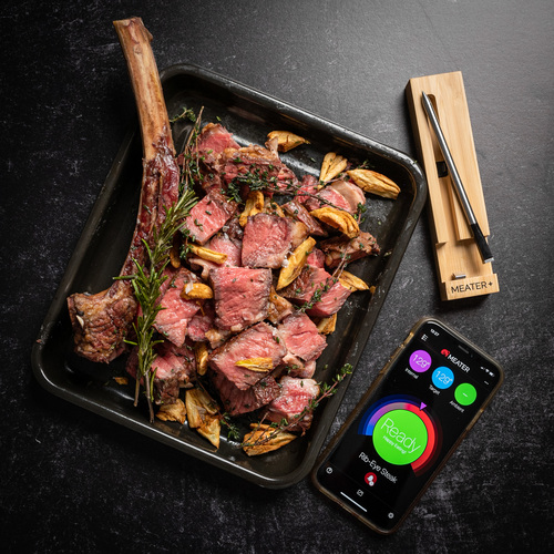 MEATER Plus with Rib Eye Steak and App