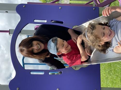Jo with her Niece and Nephew