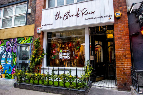 The Blends&rsquo Room pop-up for Garnier