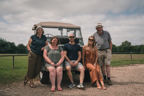 The family with &#039Old Landy&#039