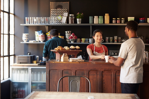 Payments with Tips at Cafe
