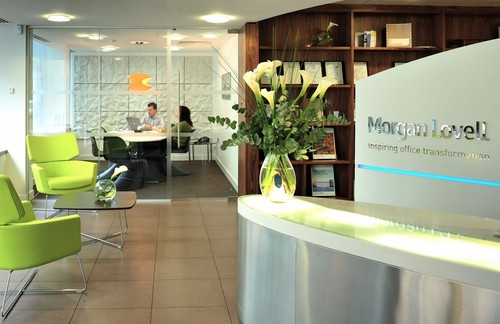 Morgan Lovell's green office in London.
